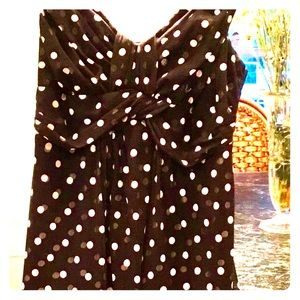 Pretty layered chiffon polka dot INC dress.